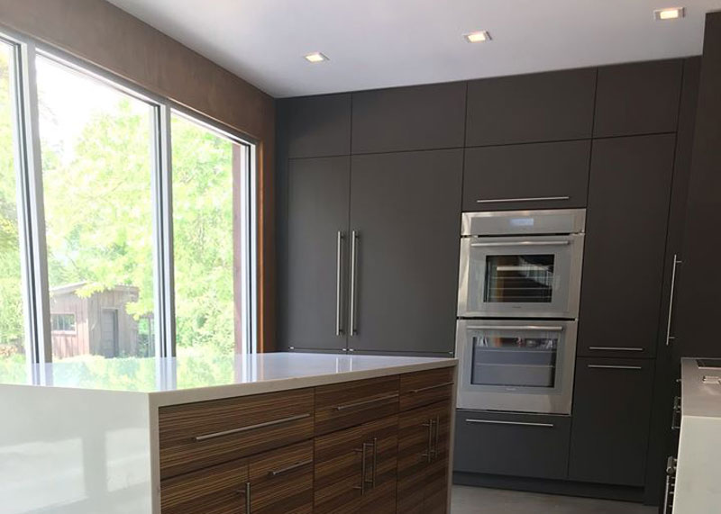 roanoke modern kitchen design by ideal cabinets long view