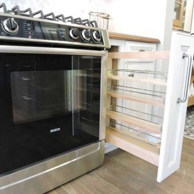 kitchen cabinet pull out drawer with shelves