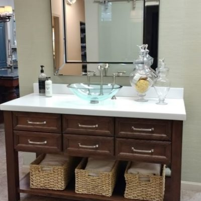 roanoke va bathroom remodel and cabinets display