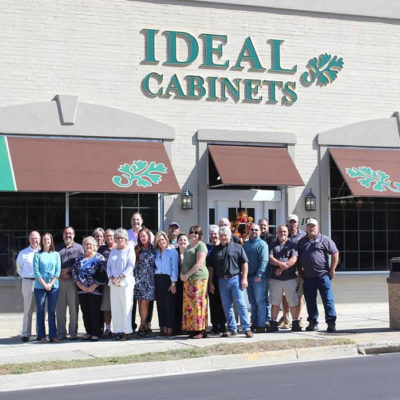 ideal cabinets showroom christiansburg, virginia and staff