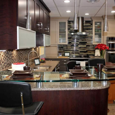 contemporary kitchen design features modern cabinets stainless steel appliances and pendant lighting