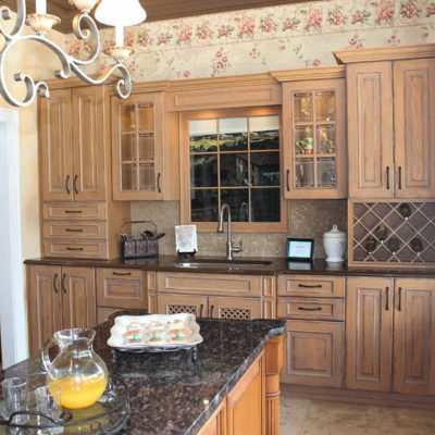 christiansburg kitchen cabinet display at ideal cabinets showroom in virginia