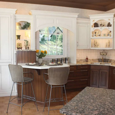 white kitchen cabinets with dark base cabinets at ideal cabinets in christiansburg va