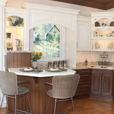 kitchen cabinets near christiansburg va on display at ideal cabinets features breakfast bar