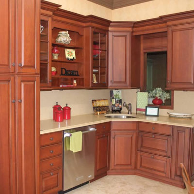 display featuring kitchen renovation in christiansburg virginia ideal cabinets showroom