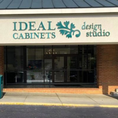 ideal cabinets showroom storefront in roanoke virginia